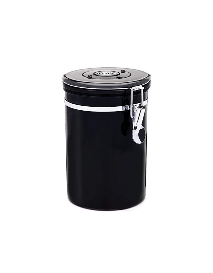 Friis Stainless Steel Coffee Storage Canister (Black)