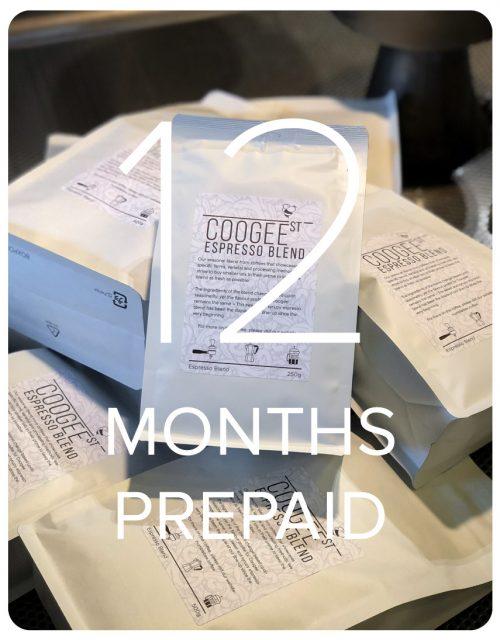 Coogee Street Espresso Blend - 12 Months Prepaid