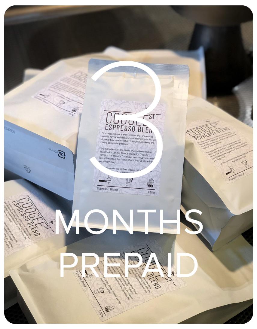 Coogee Street Espresso Blend - 3 Months Prepaid
