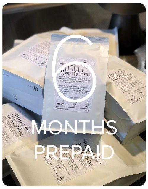 Coogee Street Espresso Blend - 6 Months Prepaid