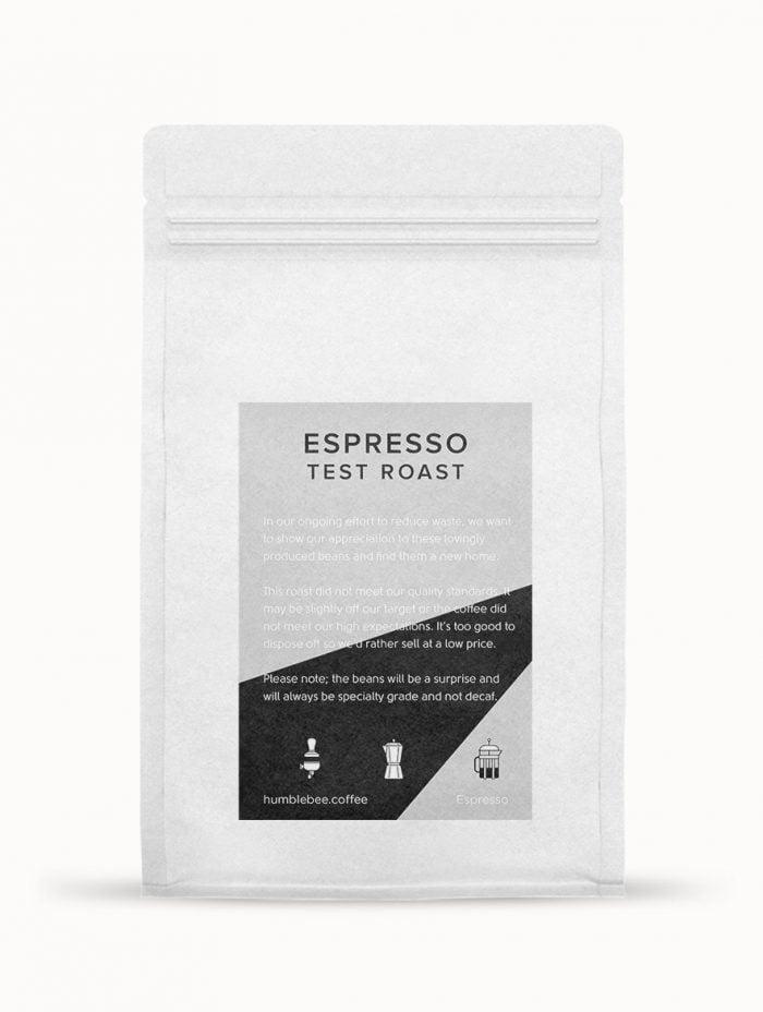 Espresso Coffee Test Roast