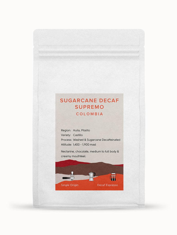Colombia Sugarcane Decaf Supremo Espresso